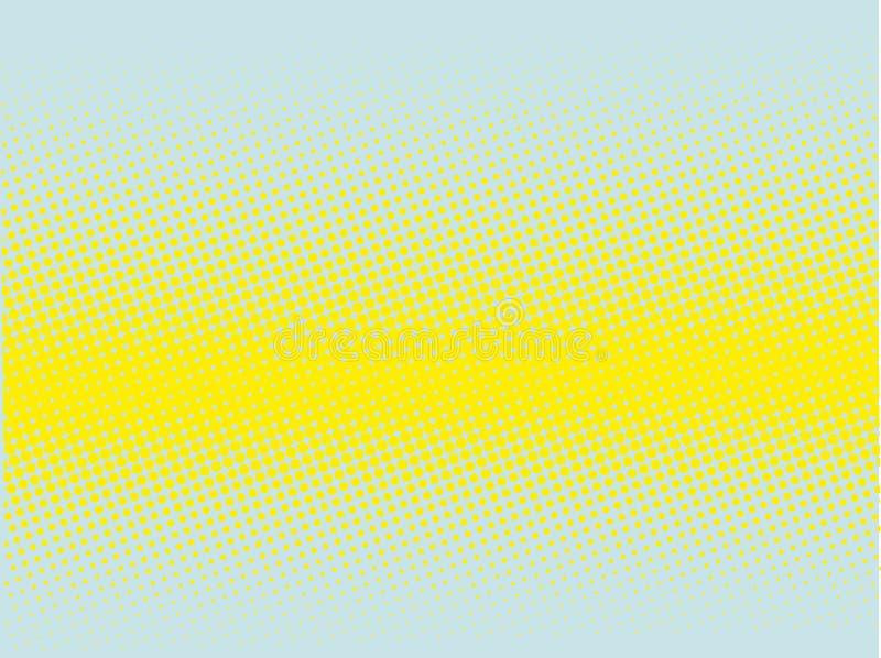 Fundo de intervalo mínimo Teste padrão pontilhado cômico Estilo retro do pop art ilustração stock