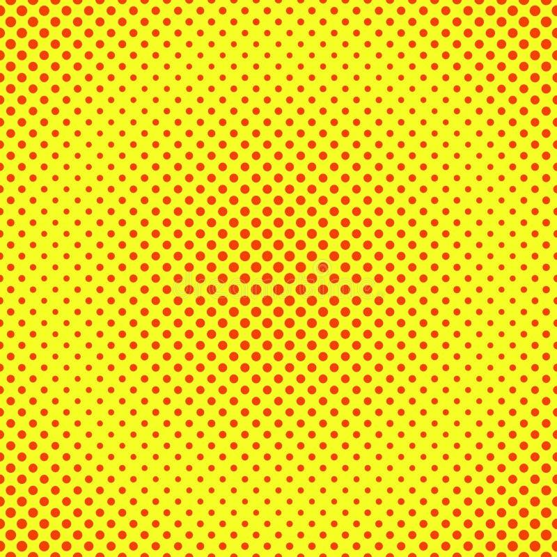 Fundo de intervalo mínimo, vermelho e amarelo ilustração stock