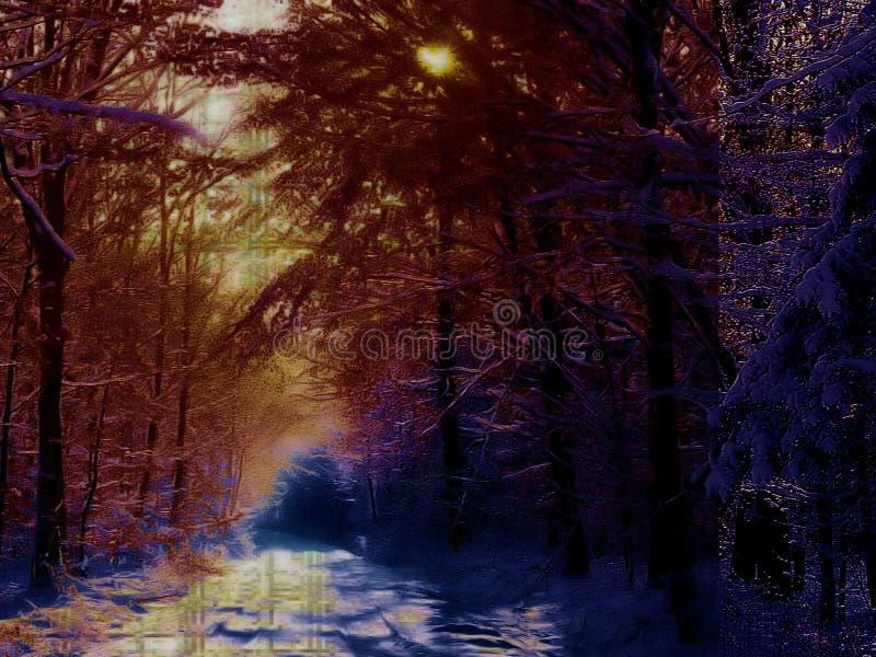 Fundo de inverno 3 fotos de stock