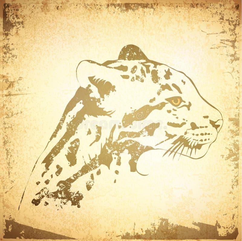 Fundo de Jaguar ilustração royalty free