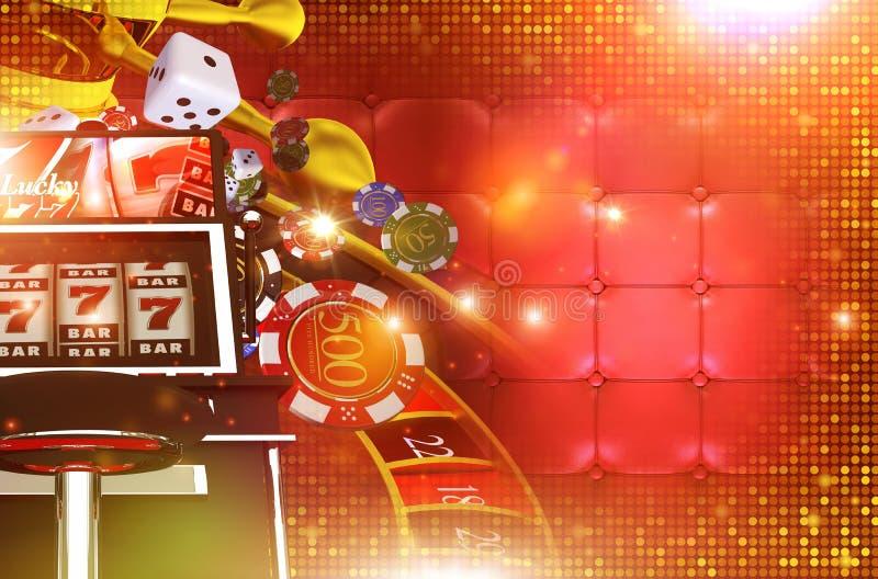 Fundo de jogo do casino ilustração stock