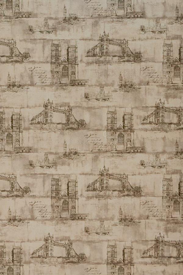 Fundo de jornais velhos Textura do fundo, vista superior fotografia de stock royalty free
