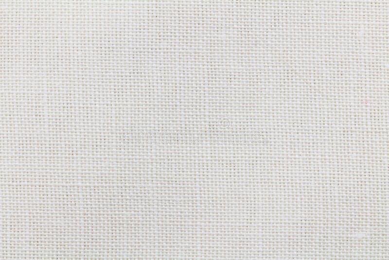 Fundo de linho - texure branco de pano do sumário imagem de stock royalty free