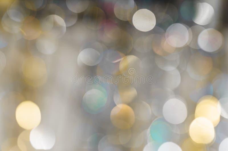 Fundo de luzes fortemente borradas das festões fotos de stock