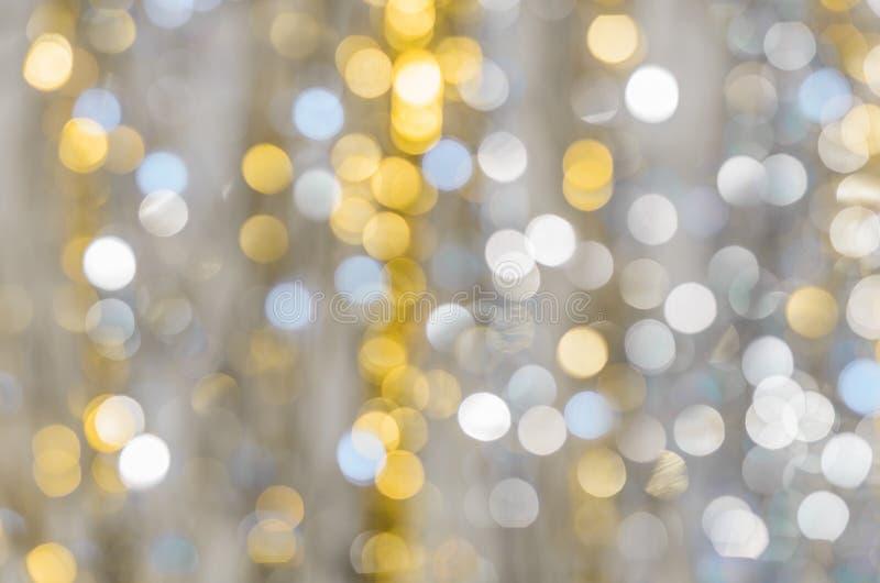 Fundo de luzes fortemente borradas das festões foto de stock royalty free