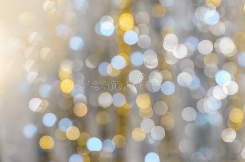 Fundo de luzes fortemente borradas das festões fotografia de stock