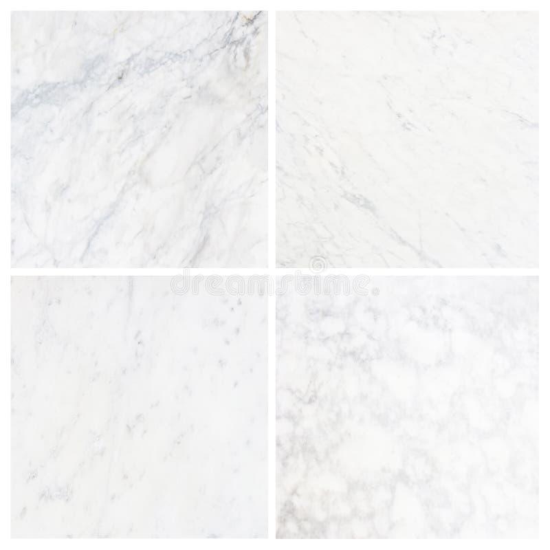 fundo de mármore branco da textura da coleção (de alta resolução) foto de stock royalty free