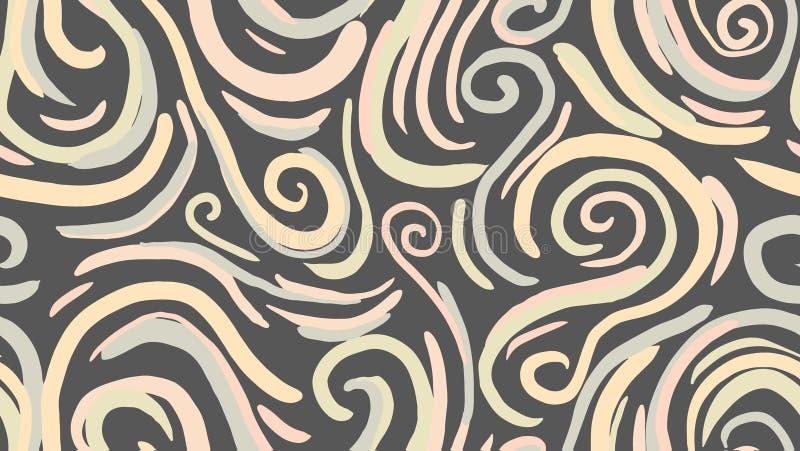 Fundo de mármore da textura Teste padrão sem emenda da tampa ilustração do vetor