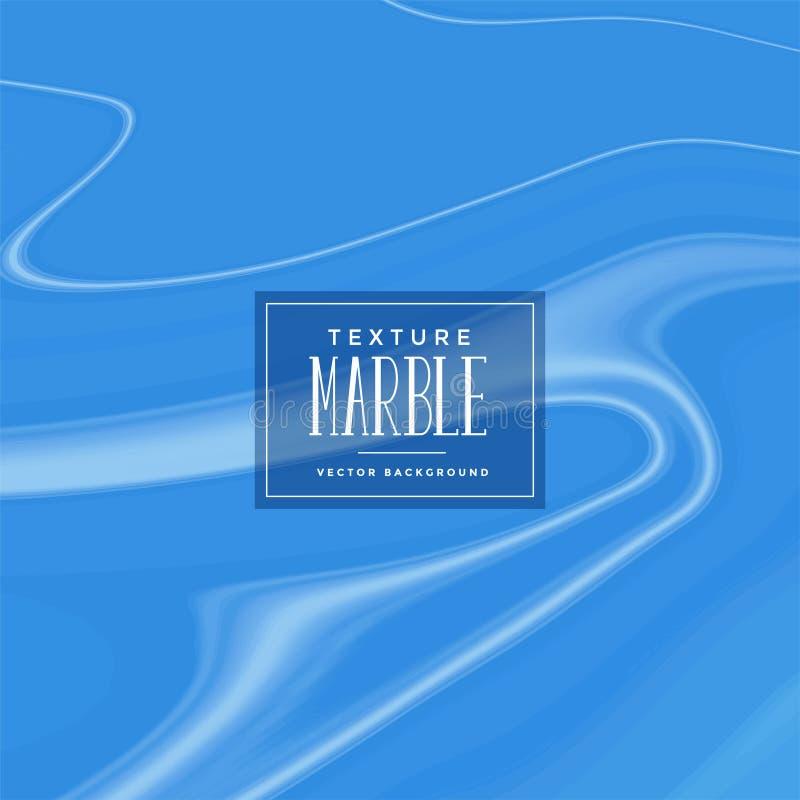 Fundo de mármore líquido azul elegante da textura ilustração do vetor