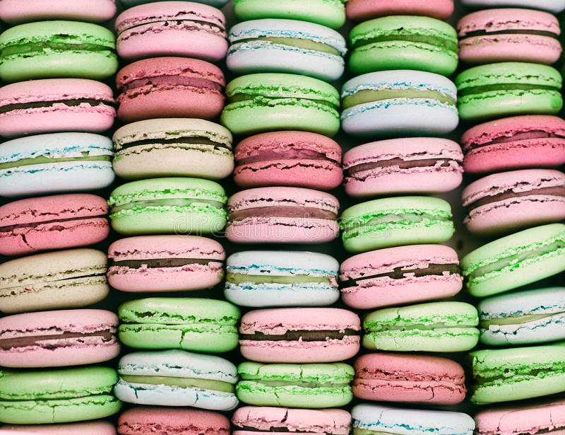 Fundo de Macarons fotografia de stock royalty free