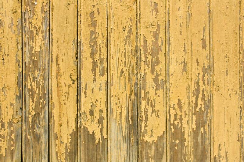 Fundo de madeira amarelo imagem de stock