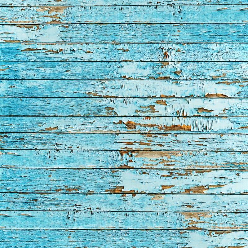 Fundo de madeira azul velho da prancha. imagens de stock