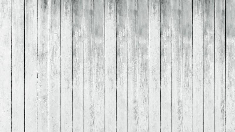 Fundo de madeira branco do panorama fotografia de stock