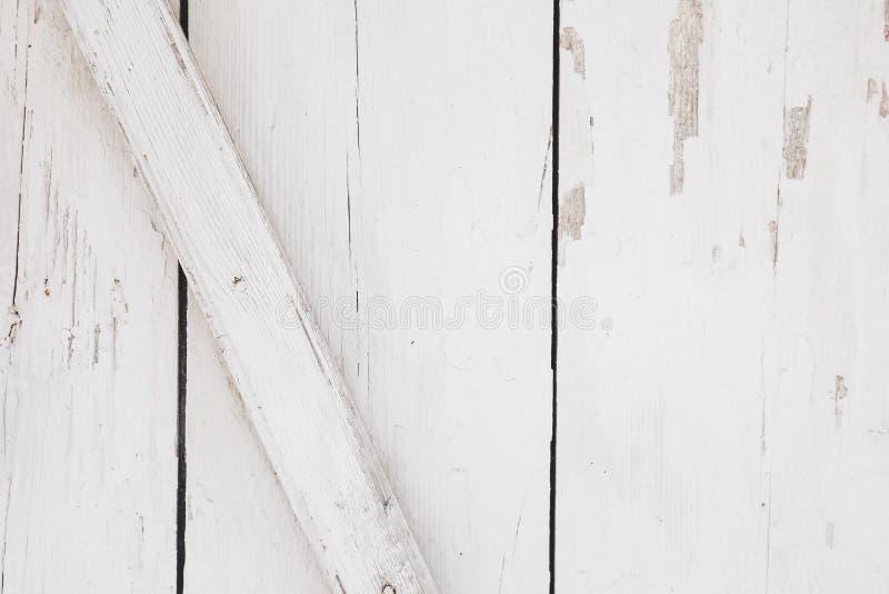 Fundo de madeira branco rústico, fim acima foto de stock