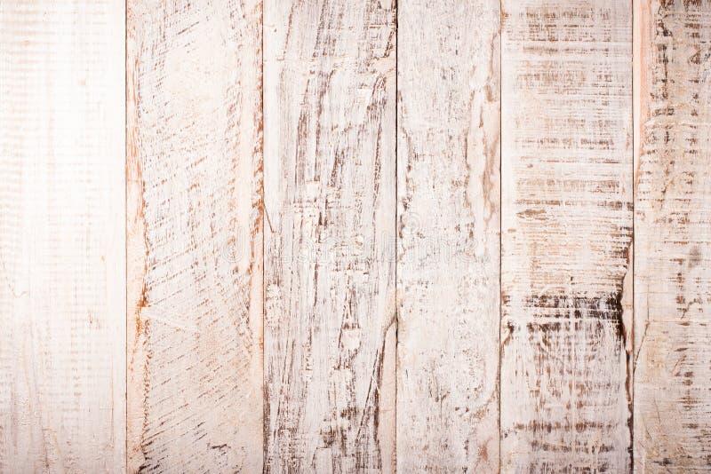 Fundo de madeira branco velho do Grunge foto de stock royalty free