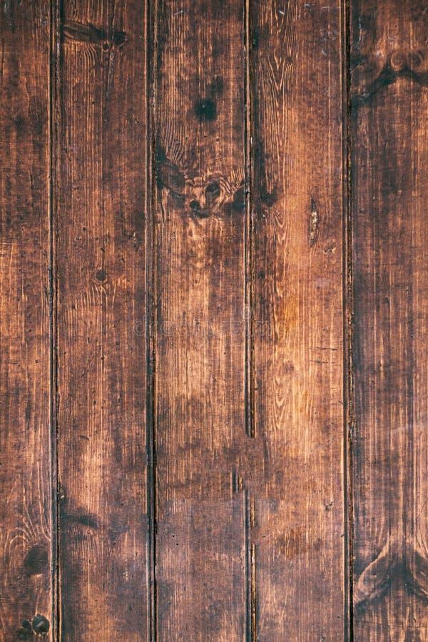 Fundo de madeira de Brown Textura velha do vintage da madeira da casca, tabl fotografia de stock