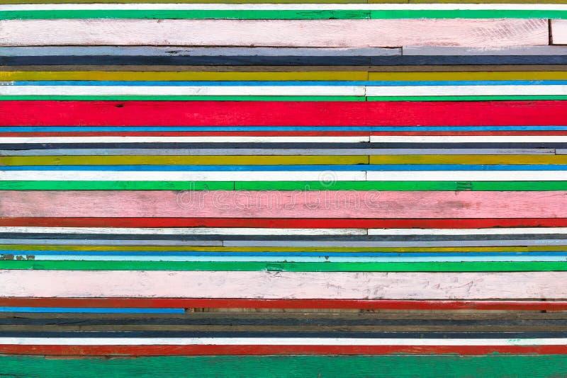 Fundo de madeira colorido fotografia de stock