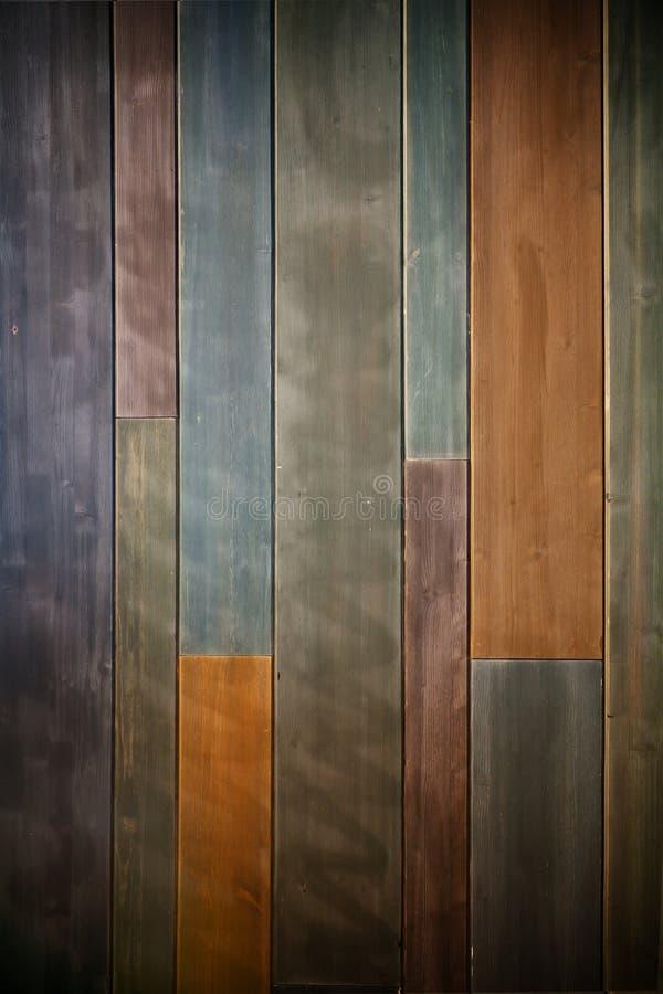Fundo de madeira colorido velho foto de stock