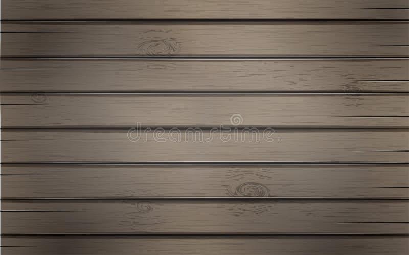 Fundo de madeira com as pranchas de madeira da textura, molde do contexto para seu projeto, bandeira, cartaz ou cartão ilustração do vetor