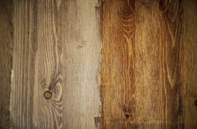 Fundo de madeira com vignetting, teca da textura, pinho, carvalho imagens de stock