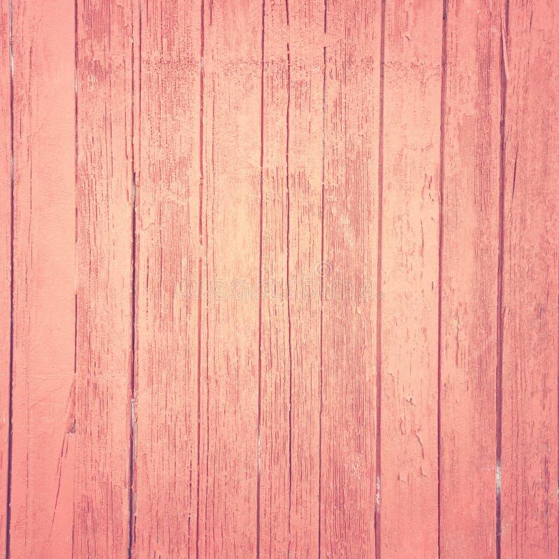 Fundo de madeira cor-de-rosa do vintage fotografia de stock royalty free