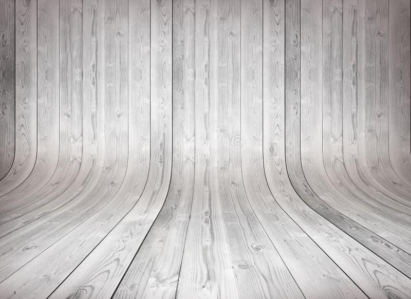 Fundo de madeira curvado velho imagens de stock