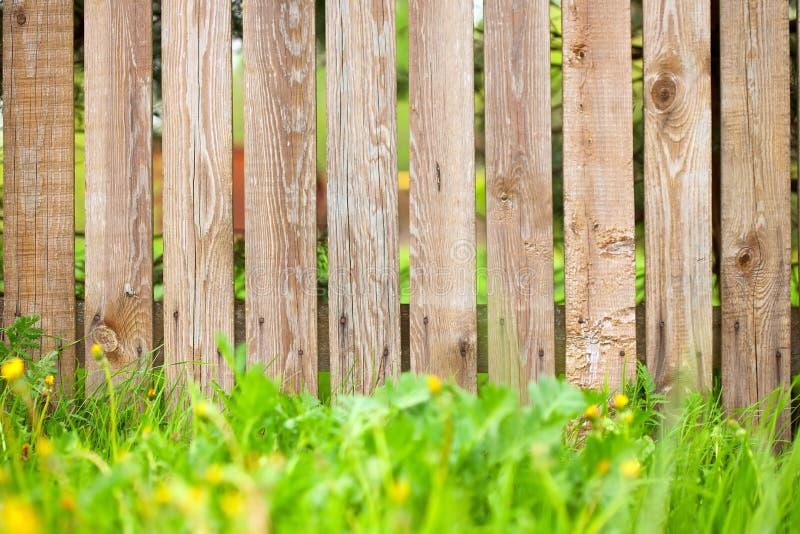 Fundo de madeira da cerca fotos de stock