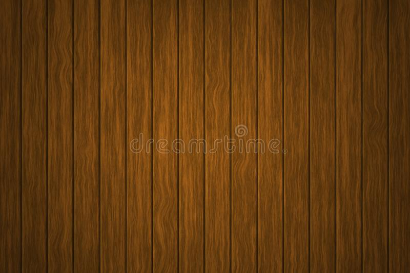 Fundo de madeira da ilustração, a superfície da textura de madeira marrom velha, almofadar da madeira da vista superior ilustração do vetor