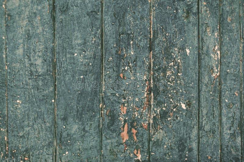 Fundo de madeira da praia rústica - texto de madeira da cor azul do vintage imagens de stock