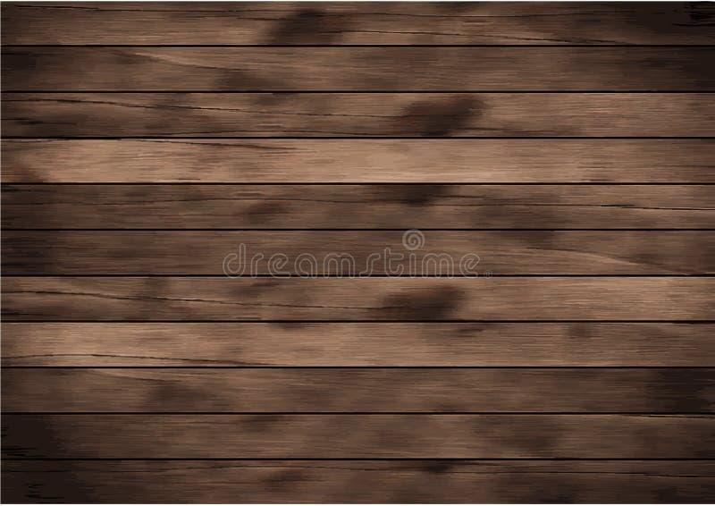 Fundo de madeira da prancha do vetor ilustração royalty free