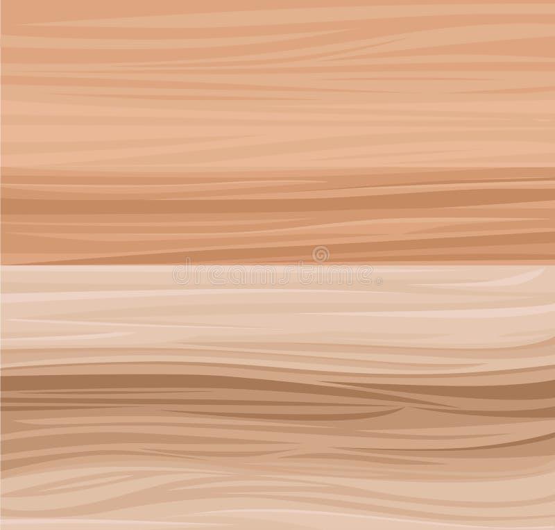 Fundo de madeira da prancha do vetor Textura de madeira realística com placas Página da site e projeto móvel do app ilustração royalty free