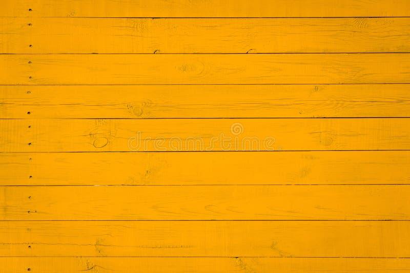 Fundo de madeira da textura com teste padrão natural, cor amarela fotografia de stock
