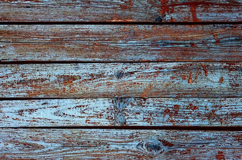 Fundo de madeira da textura com teste padrão natural, obscuridade - cor azul foto de stock royalty free