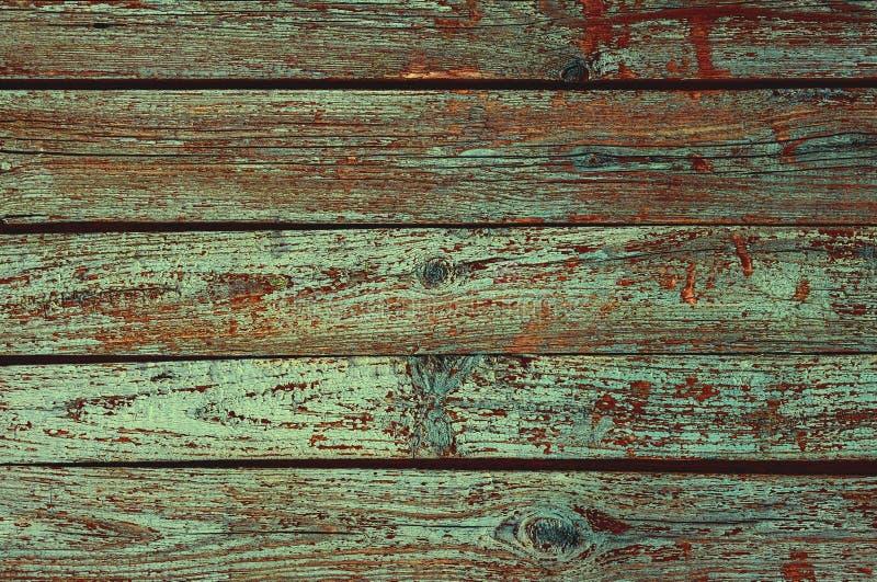 Fundo de madeira da textura com teste padrão natural, obscuridade - cor verde imagens de stock royalty free