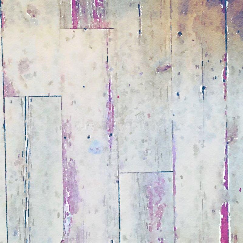 Fundo de madeira da textura da grão da aquarela ilustração do vetor