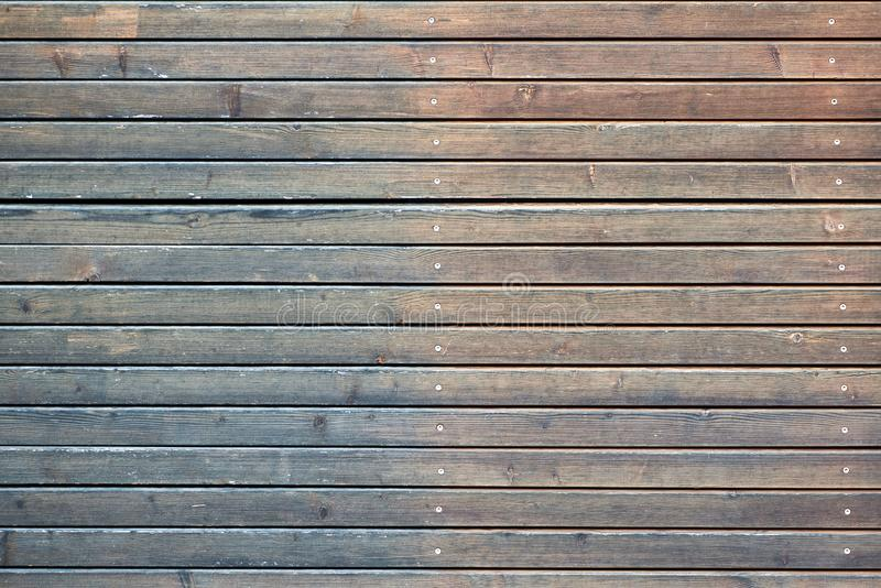 Fundo de madeira da textura Fundo de madeira das pranchas, resistido, com pregos, vista superior, sharp e detalhado altamente foto de stock royalty free