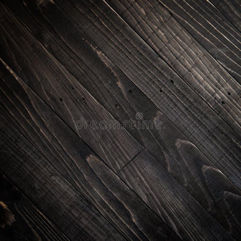 Fundo de madeira da textura do marrom escuro imagem de stock
