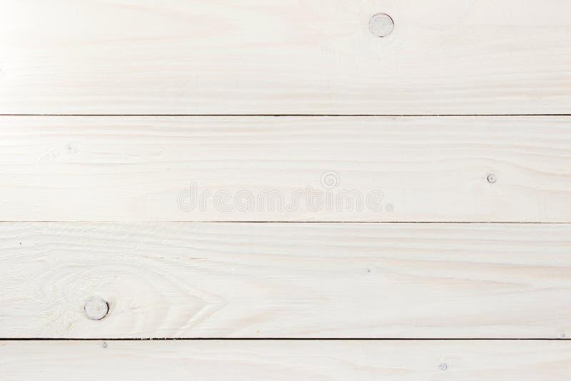 Fundo de madeira da textura do marrom da prancha da luz branca do vintage fotografia de stock royalty free
