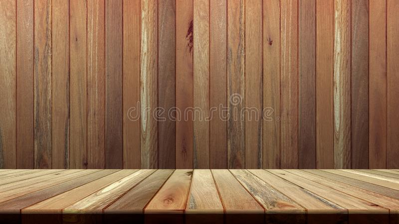 Fundo de madeira da textura Parede e assoalho de madeira para a colocação do produto ou a edição de seu produto fotografia de stock