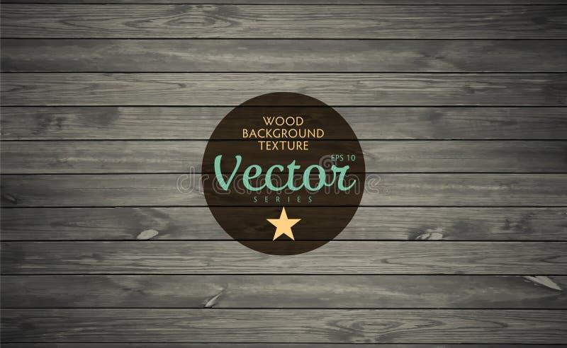 Fundo de madeira da textura Placas idosas ilustração do vetor
