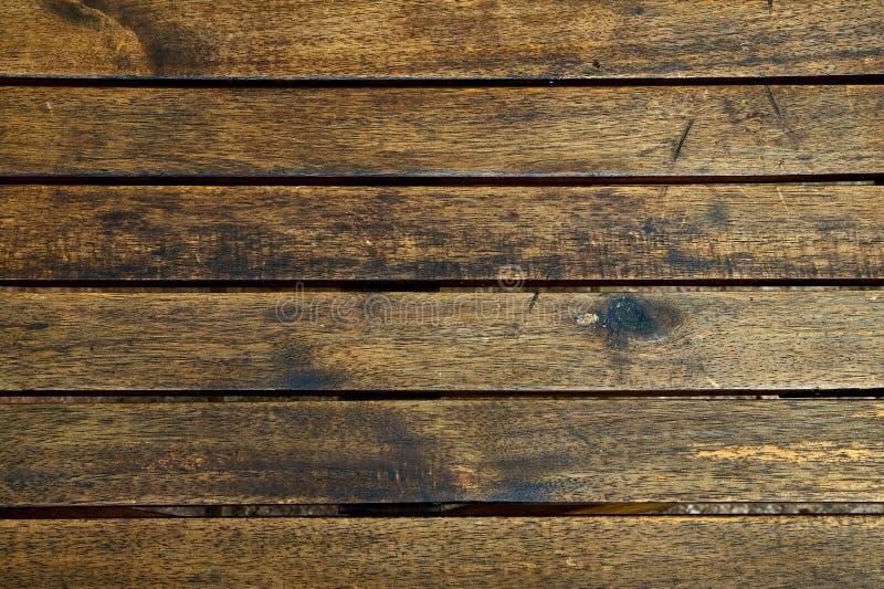 Fundo de madeira da textura, pranchas de madeira marrons Teste padrão de madeira lavado Grunge da parede foto de stock