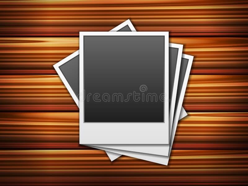 Fundo de madeira das fotos ilustração stock