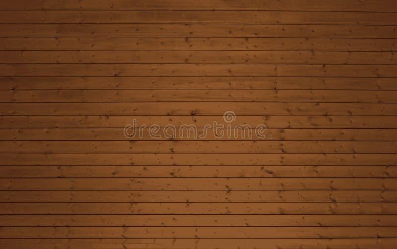 Fundo de madeira das pranchas de Brown ilustração royalty free