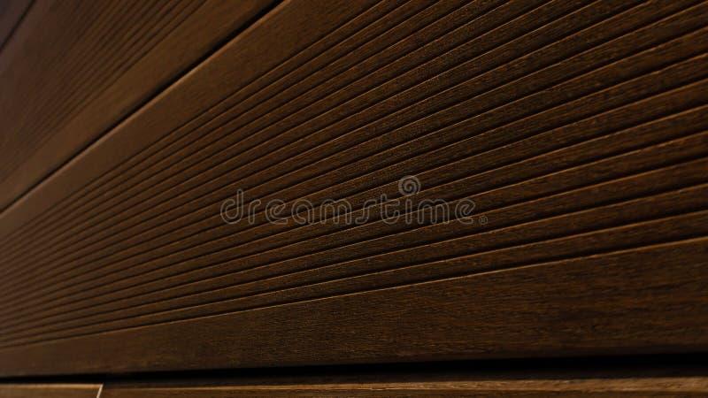 Fundo de madeira das pranchas de Brown, teste padrão de madeira, textura da madeira serrada para Folhosa Revestimento Empresa, a  imagens de stock