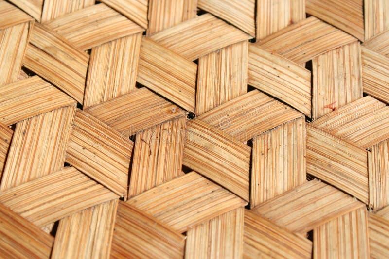 Fundo de madeira de bambu do weave fotos de stock royalty free