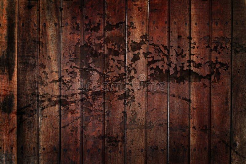 Fundo de madeira de Grunge fotos de stock royalty free