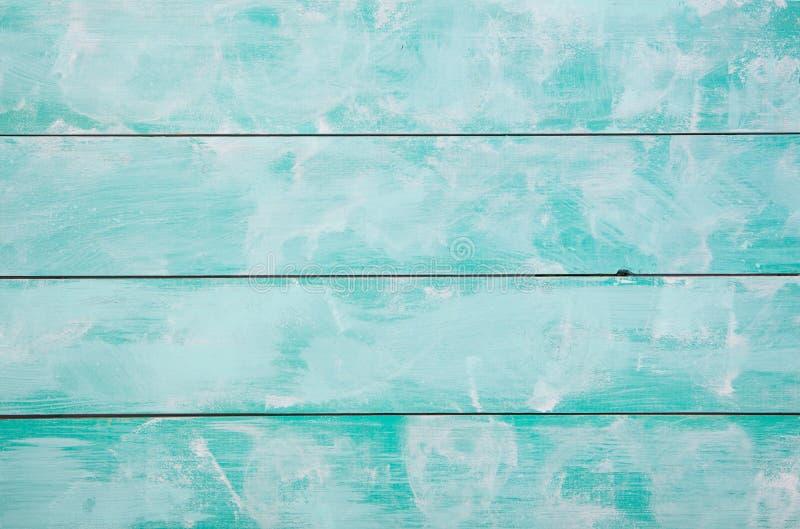 Fundo de madeira de turquesa com alta resolução Espaço da cópia da vista superior imagem de stock royalty free