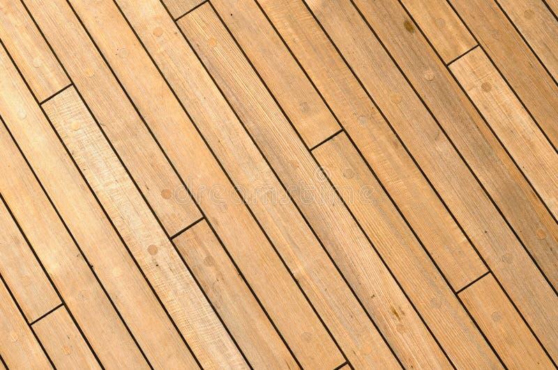 Fundo de madeira diagonal da plataforma do navio foto de stock royalty free