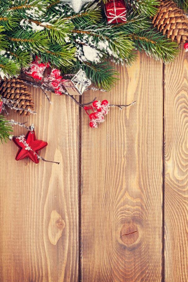 Fundo de madeira do Natal fotografia de stock royalty free