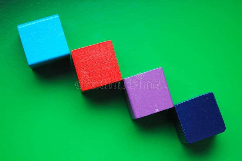 Fundo de madeira dos blocos imagem de stock